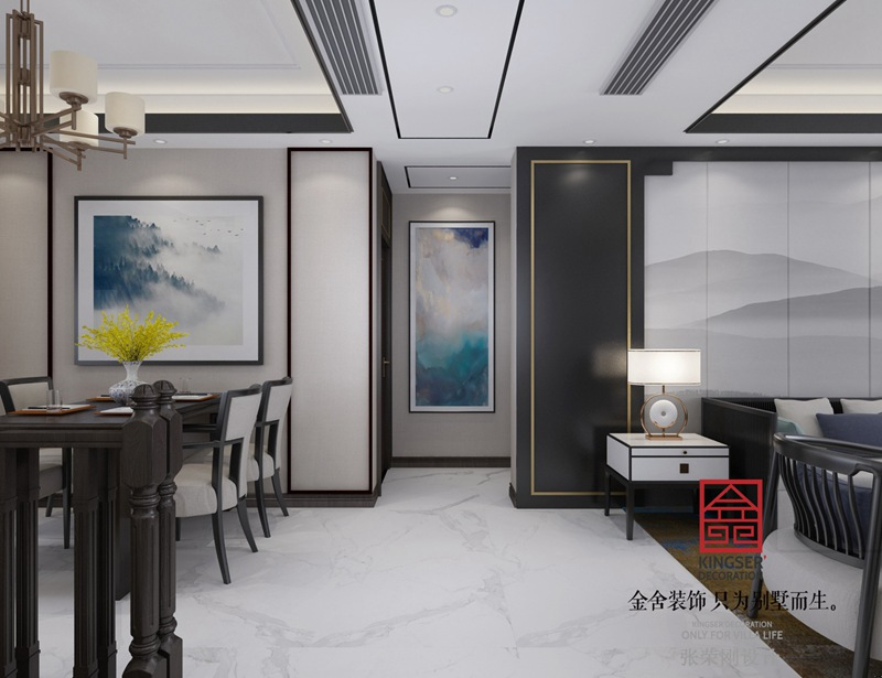 大者180平米新中式风格装修-玄关