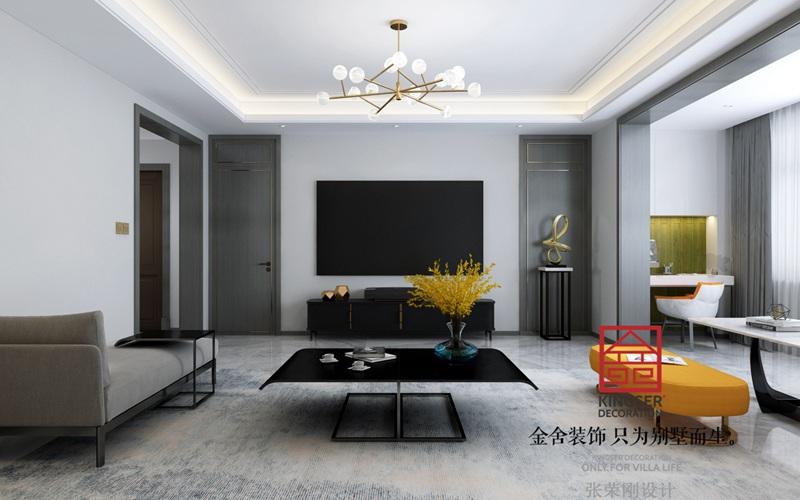 荣盛华府200平米现代风格装修-客厅