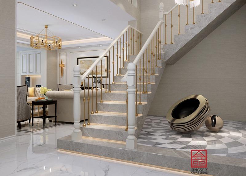 荣盛华府300平米美式风格-楼梯