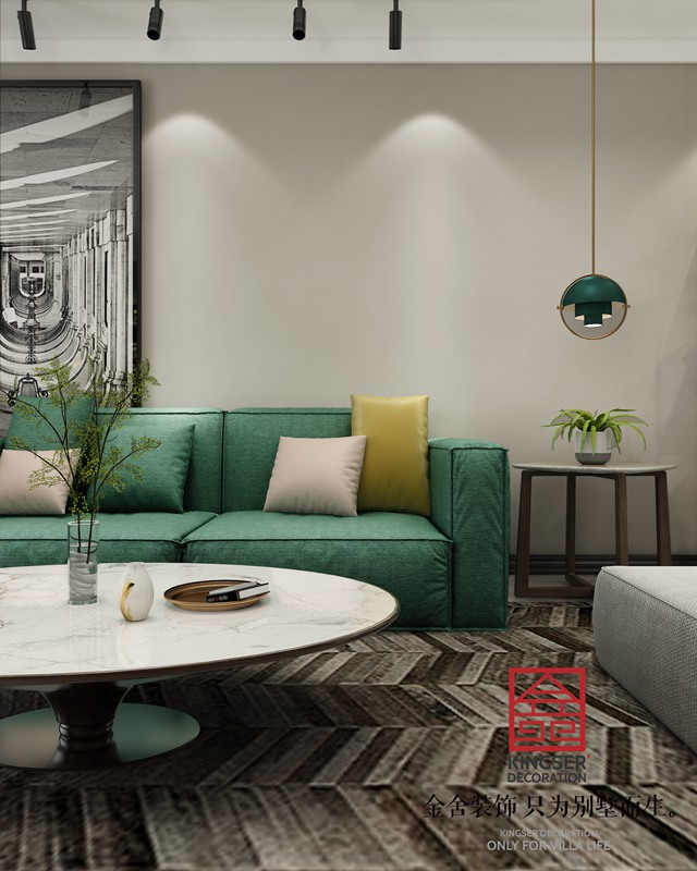 翰林甲第127平现代简约装修案例-客厅