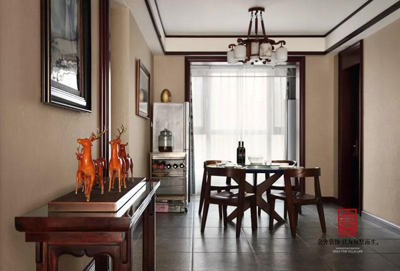 瀚唐小区158平米中式风格-餐厅