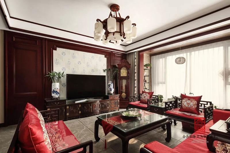 瀚唐小区158平米中式风格-客厅