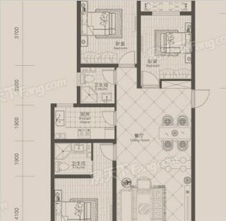 瀚林甲第127平现代简约装修案例图