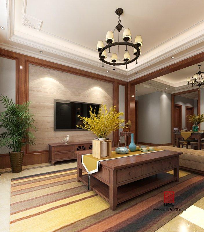 荣逸院子225平欧式装饰设计案例-客厅