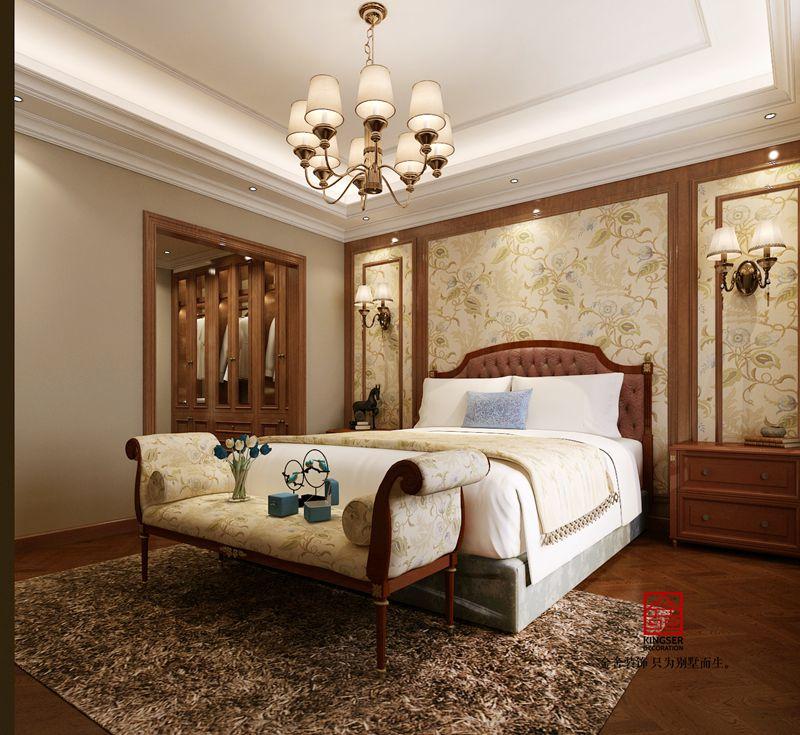 荣逸院子225平欧式装饰设计案例-卧室