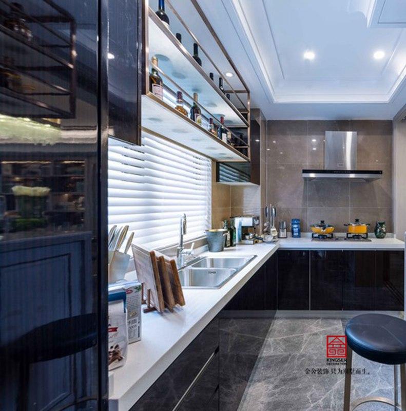 荣逸院子164平现代风格设计效果图-厨房
