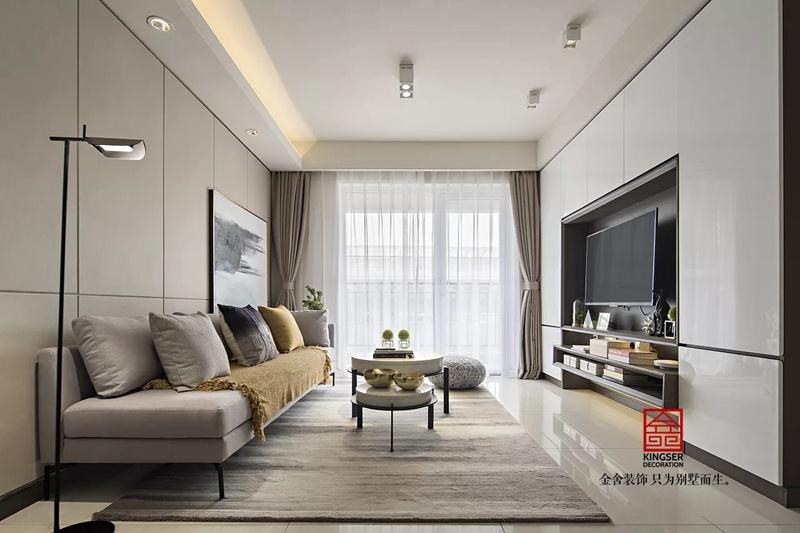 荣逸院子164平现代风格设计效果图-客厅