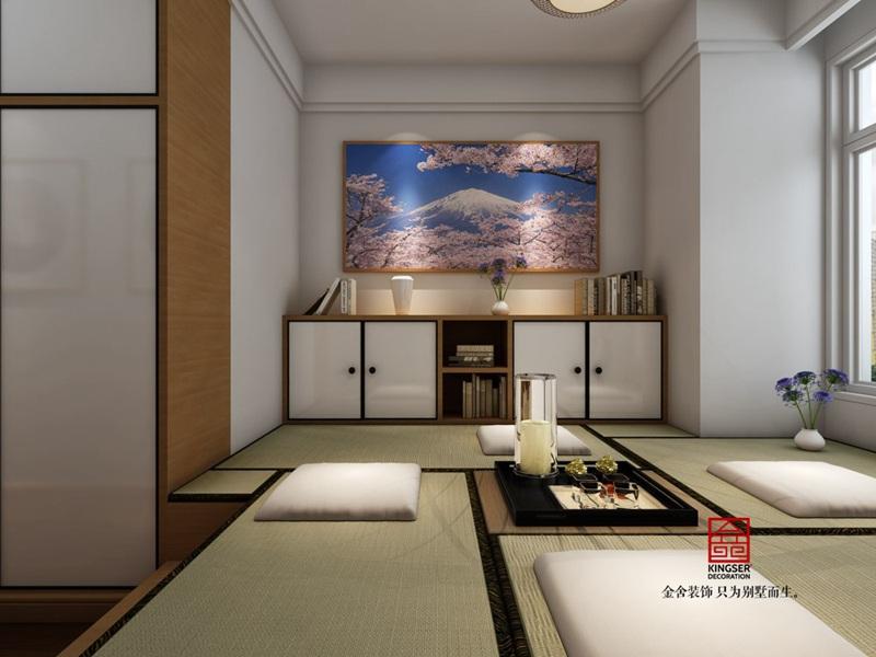 荣逸院子119平新中式装饰设计案例-榻榻米