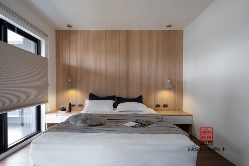 荣逸院子119平新中式装饰设计案例-卧室