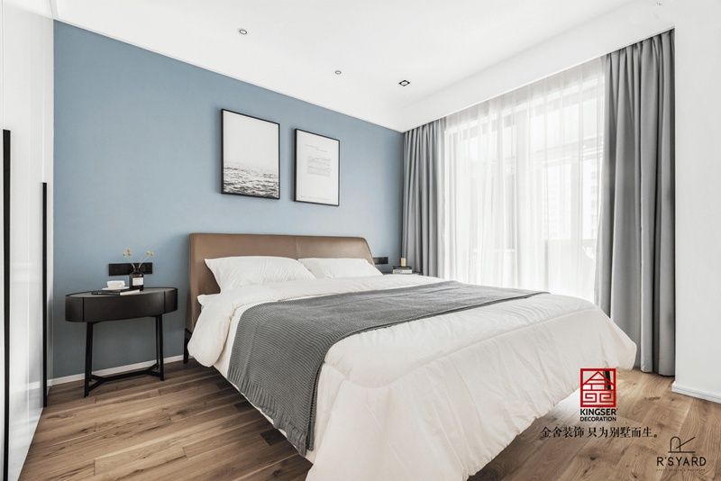 荣逸院子119平现代简约装饰设计图-卧室