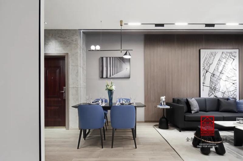 亨伦观唐名邸89平米装修-现代风格-餐厅