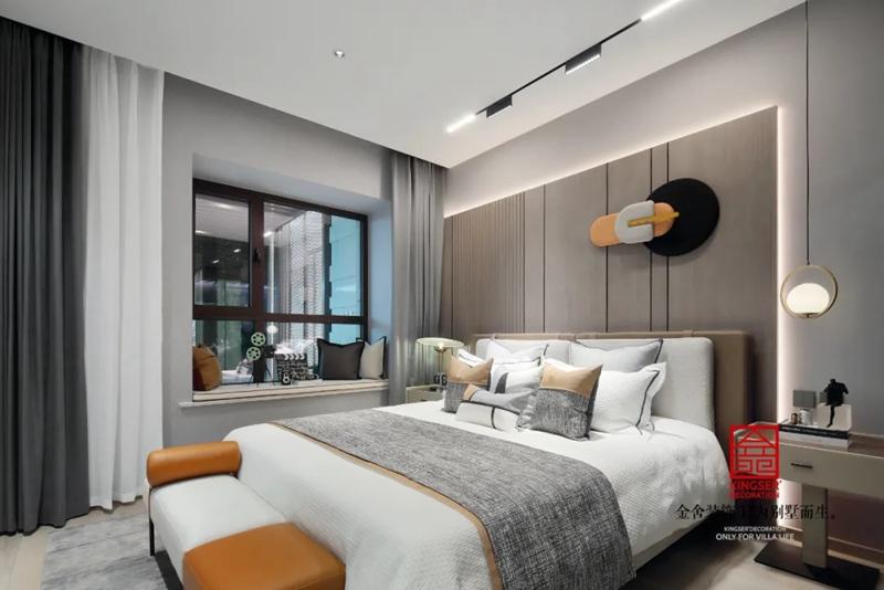 亨伦观唐名邸89平米装修-现代风格-卧室