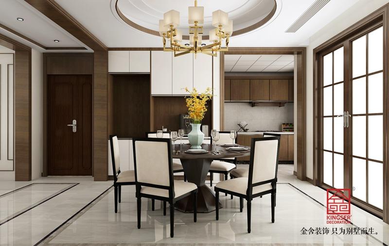 天成雅苑240平米新中式装修-餐厅