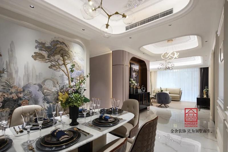 唐宫原著168平米装修-轻奢风格-餐厅