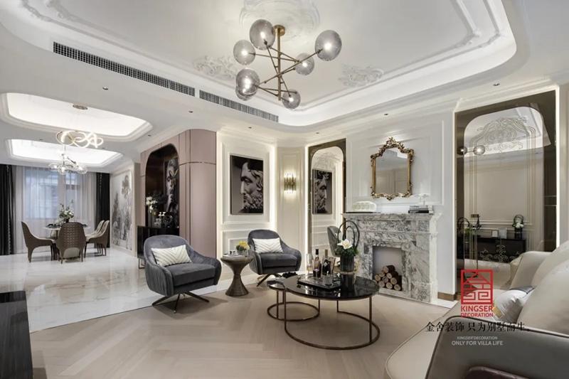 唐宫原著168平米装修-轻奢风格-客厅