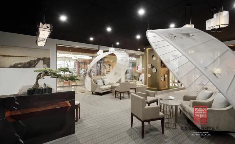御河上院二期楼盘销售展示区装修-角度2