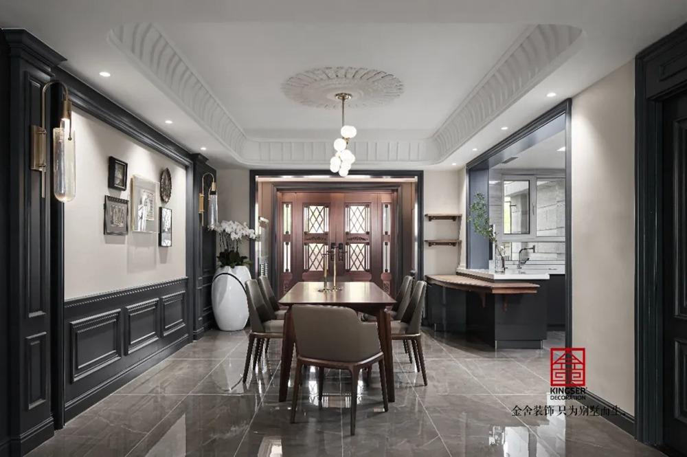 御河上院装修实景-新古典风格-餐厅