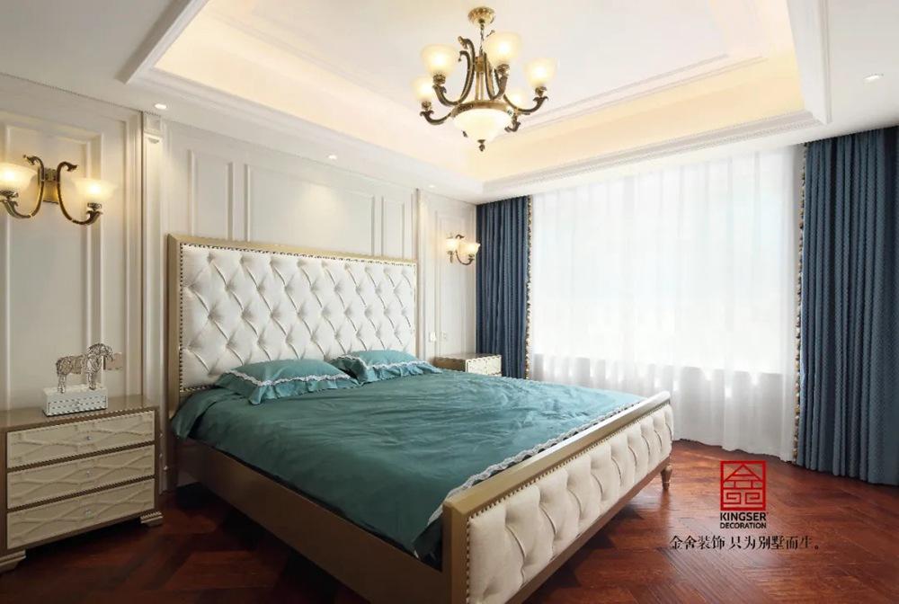 御河上院220平米装修实景-欧式风格-卧室