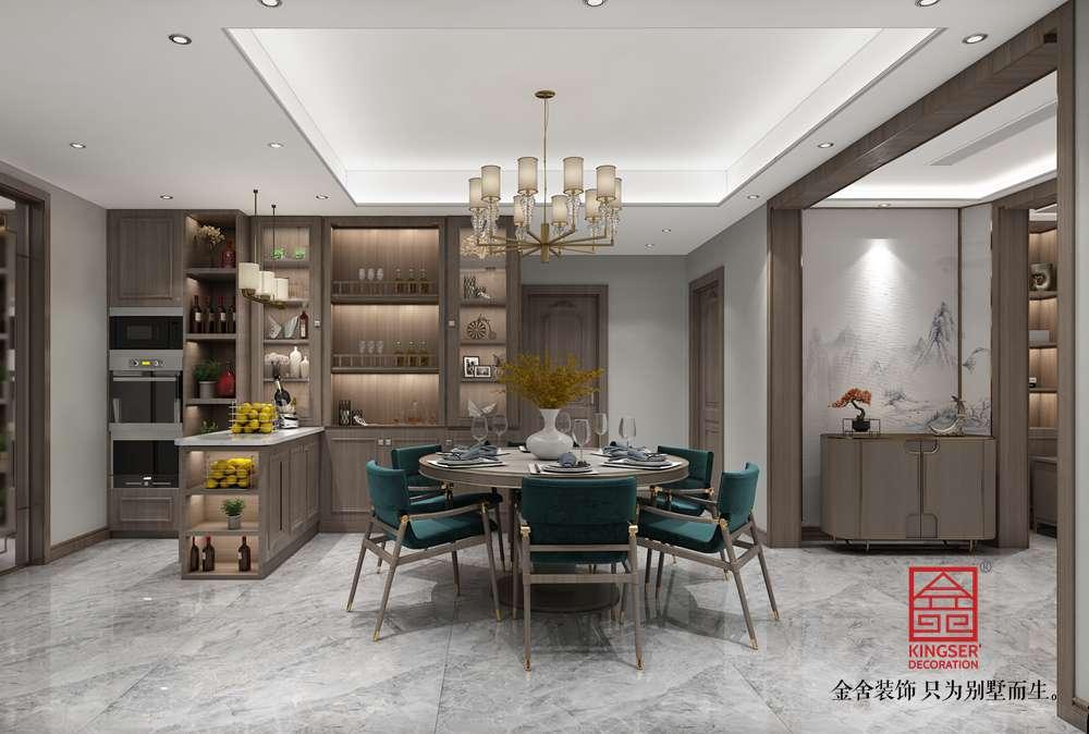 融创中心180平中式风格装修-餐厅
