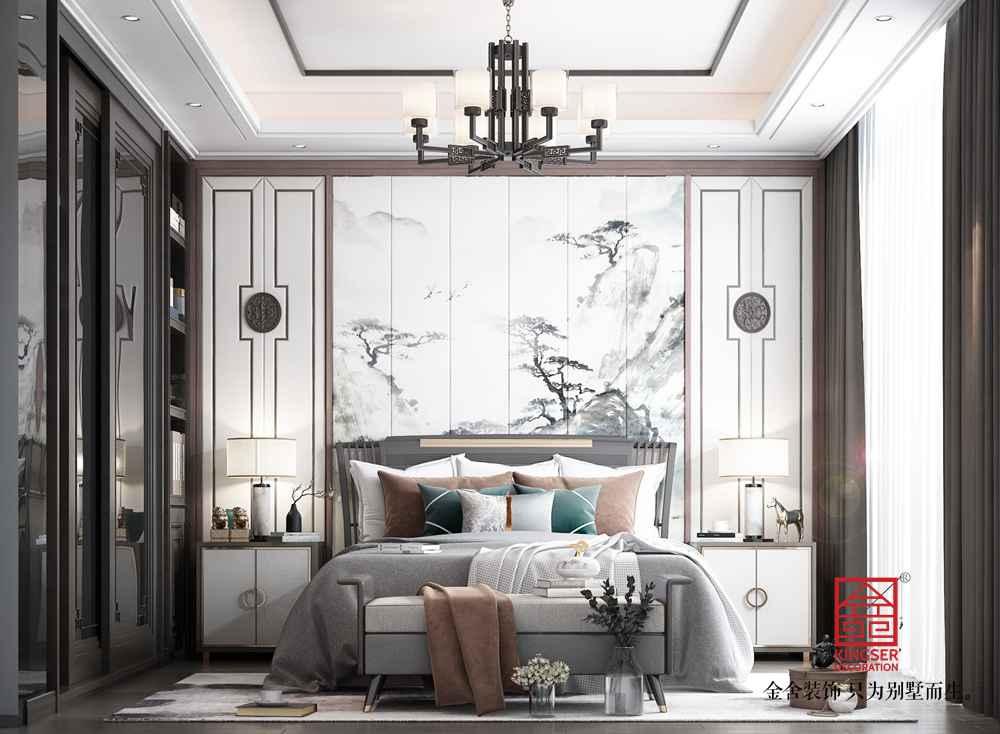 融创中心180平中式风格装修-卧室