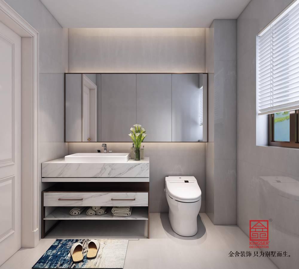 融创中心180平装修-新中式风格-卫生间