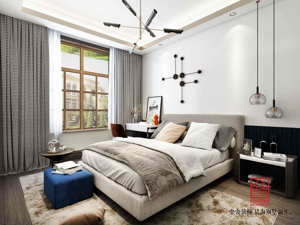 融创中心180平装修-新中式风格-卧室