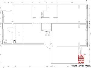融创中心180平米装修户型拆改说明