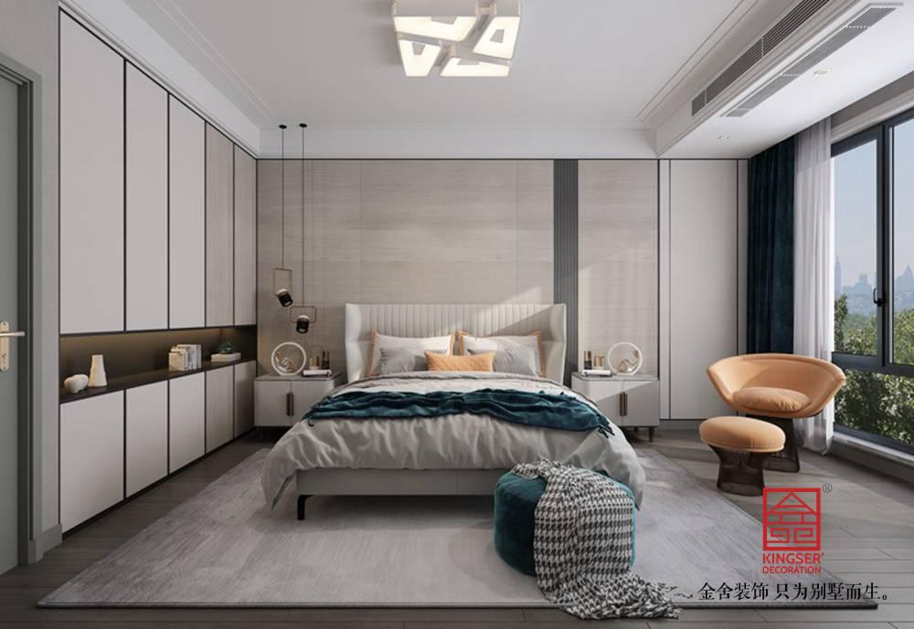 融创中心217平港式风格装修-卧室