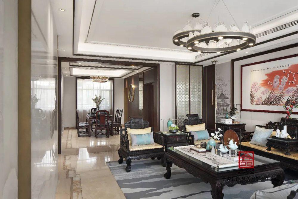 天海容天下170平米装修-中式风格-客厅