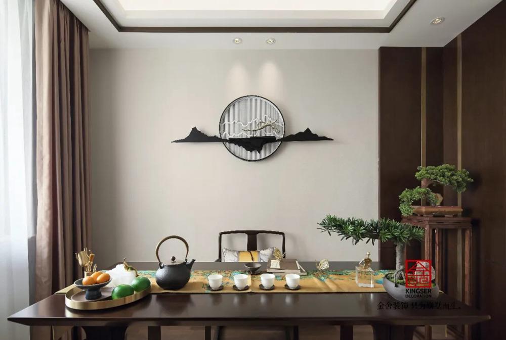 天海容天下170平米装修-中式风格-茶室