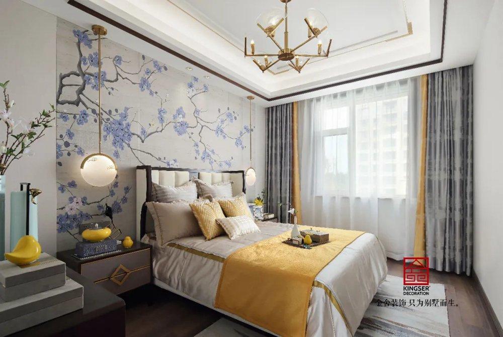 天海容天下170平米装修-中式风格-卧室
