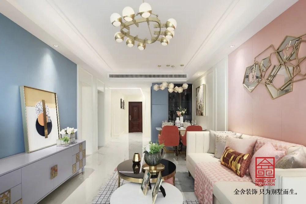 天海容天下110平装修-轻奢风格-客厅