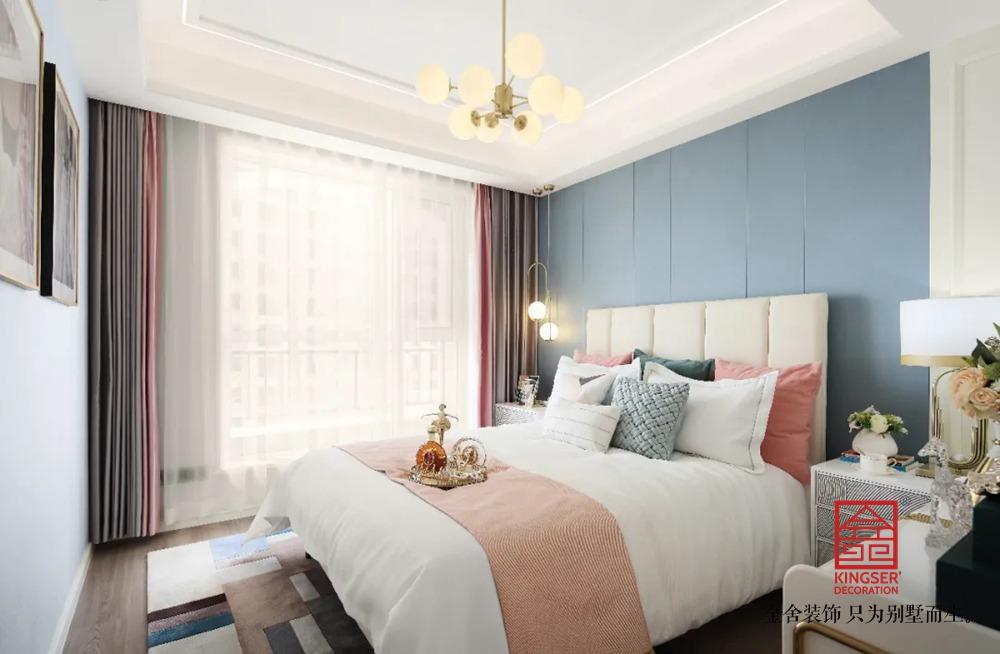 天海容天下110平装修-轻奢风格-卧室