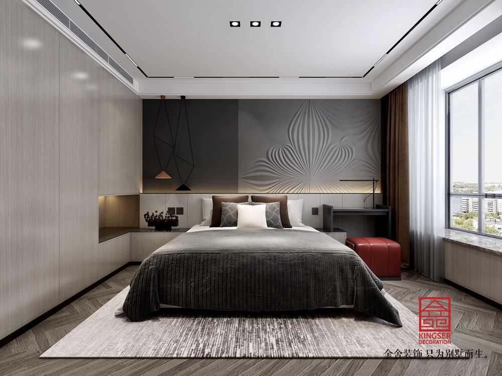 荣盛华府178平装修-轻奢风格-卧室