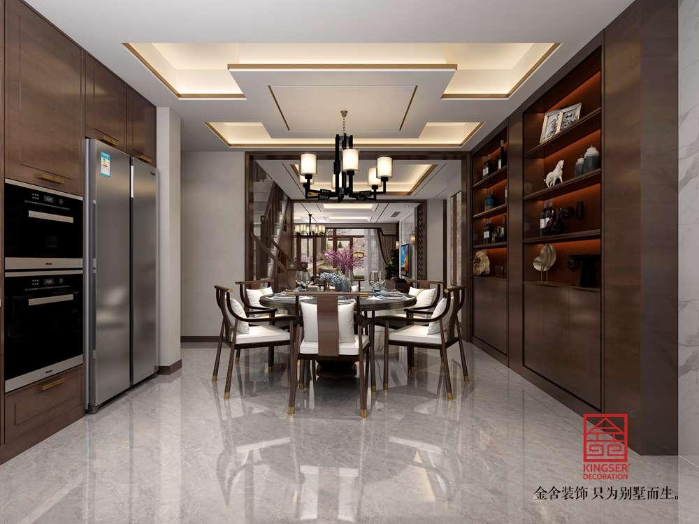 墅洋居礼215㎡装修-新中式风格-餐厅
