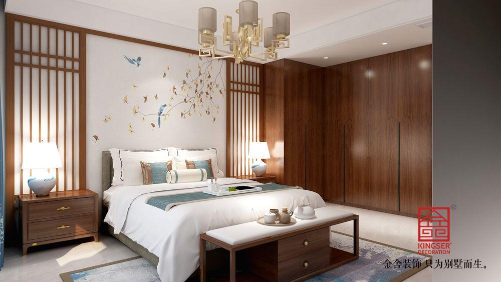 墅洋居礼215㎡装修-新中式风格-卧室