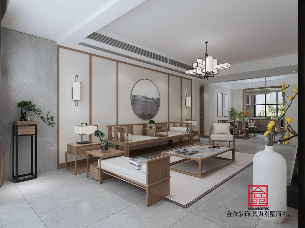 大者别墅178平米装修-中式风格-客厅