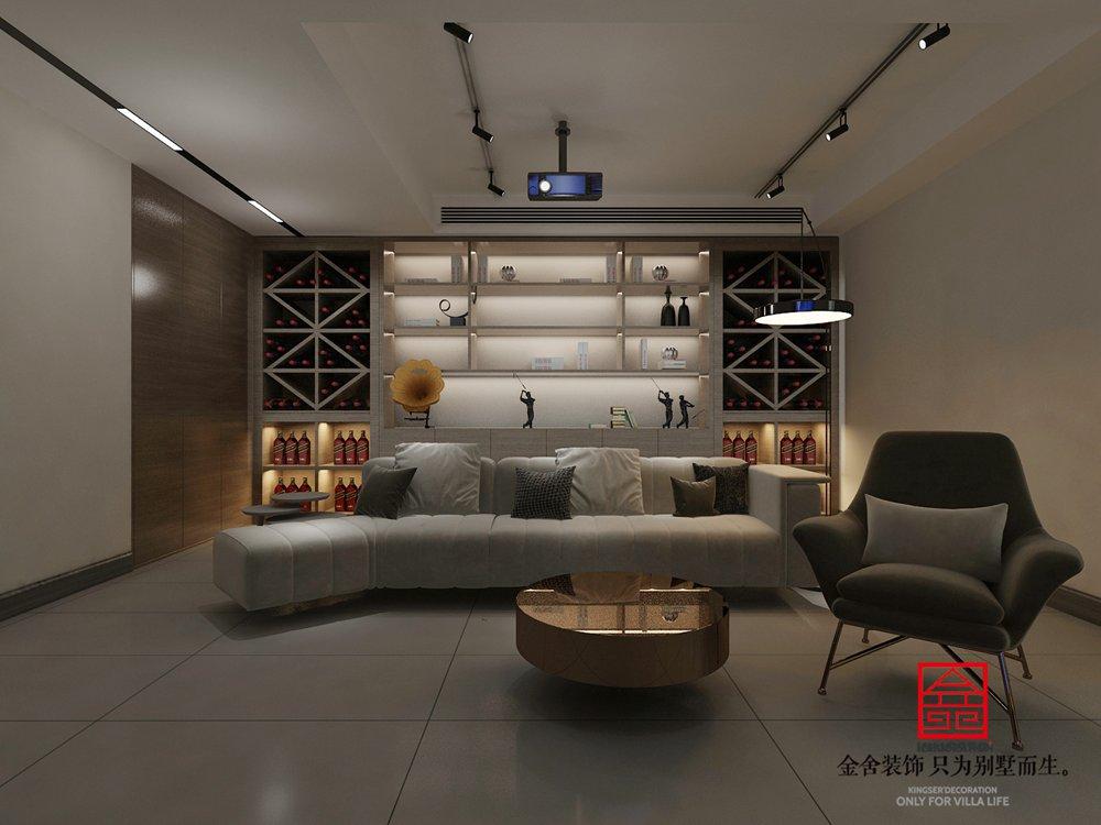 大者别墅178平米装修-中式风格-影音室