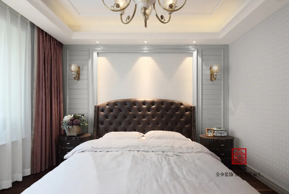 荣盛华府装修实景-美式风格-卧室