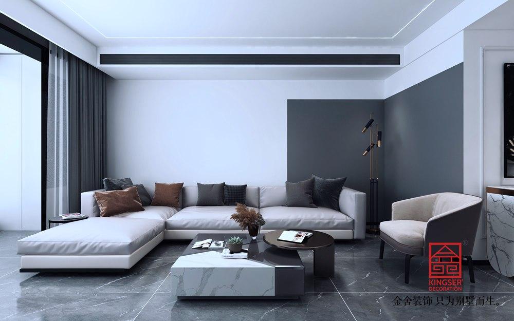 尚宾城173平米装修-现代简约-客厅