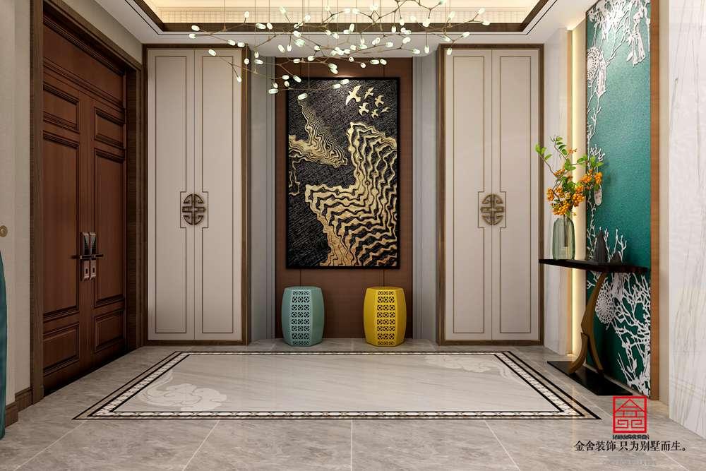 大者联排别墅装修-中式风格-玄关