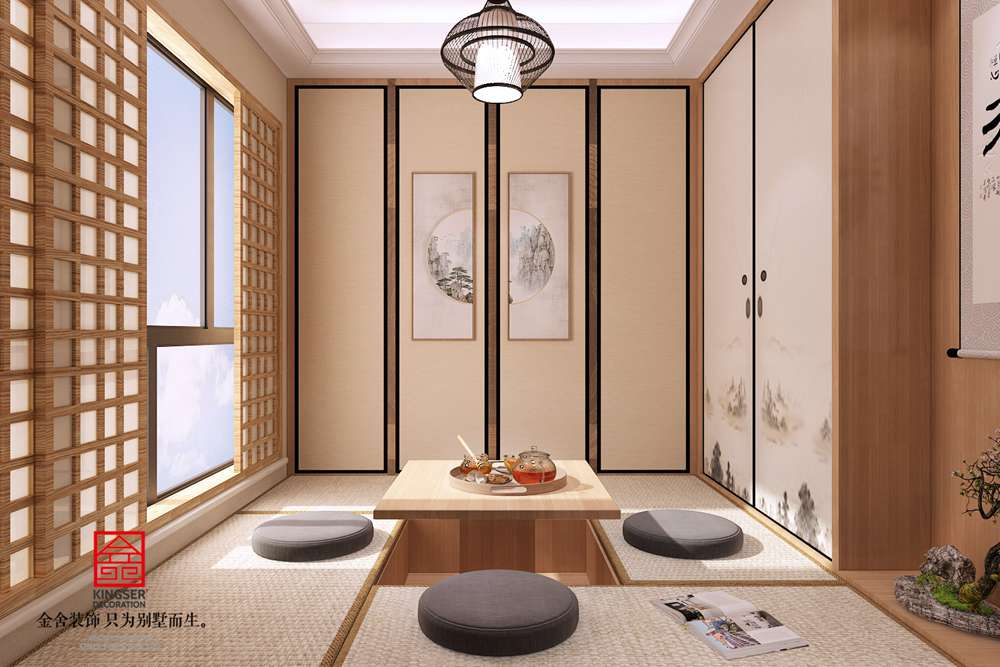 大者联排别墅装修-中式风格-茶室