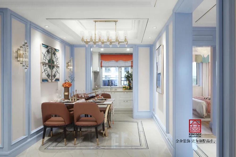天海容天下137平米装修-美式风格-餐厅