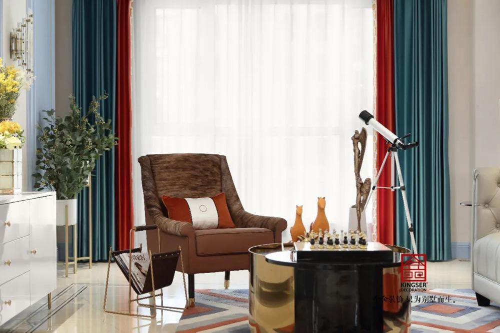 天海容天下137平米装修-美式风格-客厅