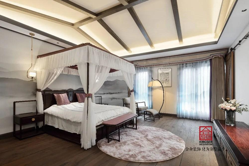 山水清音别墅500平装修-卧室