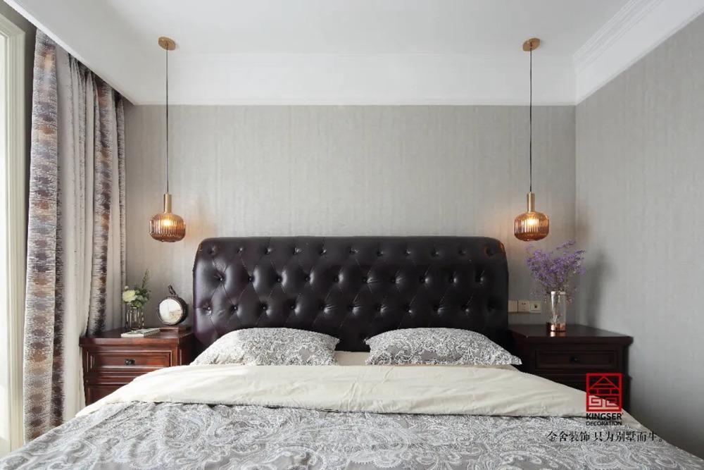 保利拉菲公馆170平米装修-美式风格-卧室