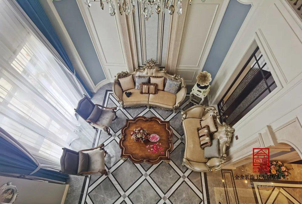 西山林语300平米欧式风格装修-客厅