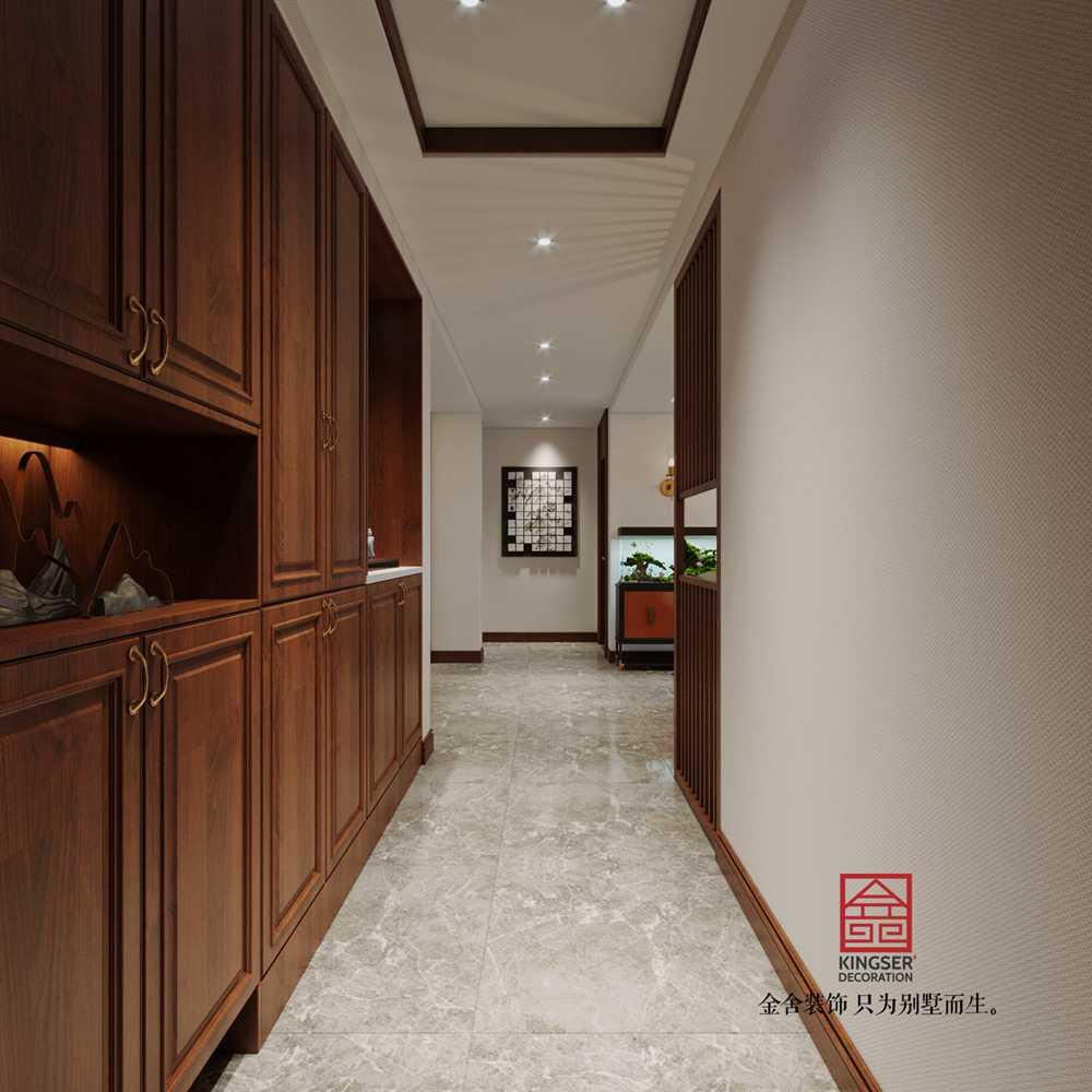 维多利亚186平米新中式装修-玄关