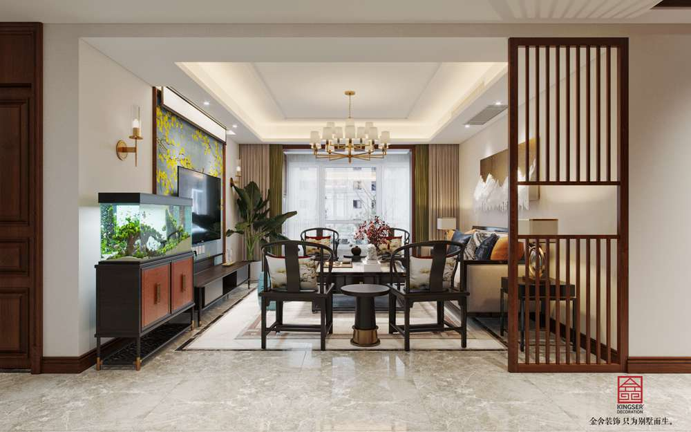 维多利亚186平米新中式装修-客厅