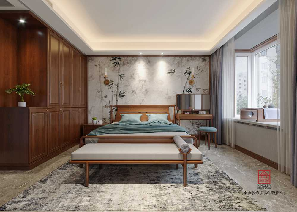 维多利亚186平米新中式装修-卧室